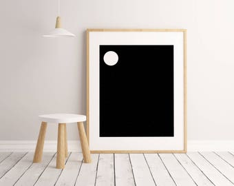 Moon Print, Kids Room Decor, Kids Room Art, Kids Room Wall Art, Kids Room Poster, Printable Wall Art