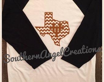 Texas Longhorn Baseball Raglan T-Shirt