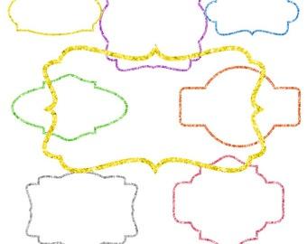 Glitter Frames, Glitter Clipart, Glitter Clip Art, Borders, Frames