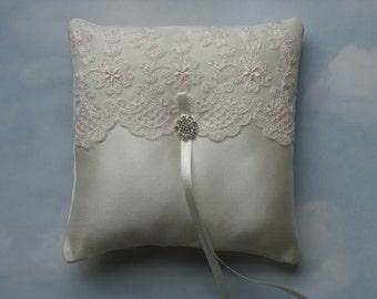Ring pillow. Wedding ring cushion.