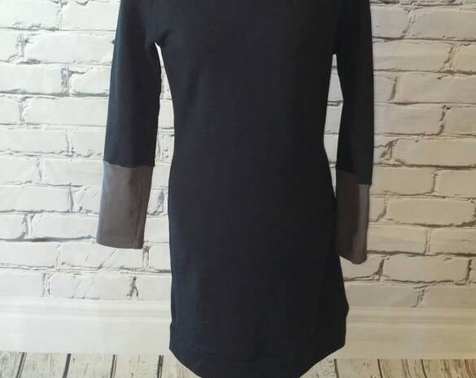 Black Cowl Neck Sweatshirt Dress