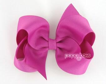 Girls Hair Bows - wild berry hair bow - 4 inch bows - large hair bows - girl hair bows - bows for girls - toddler hair bows - big hair bows
