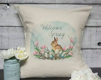 Welcome Spring Pillow Cover