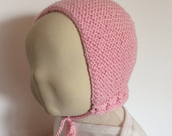 Beanie Baby Pink bonnet for baby size 3 / 6 months
