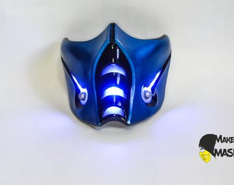 Mortal kombat mask Sub-zero for Cosplay | Color LEDs | Different sizes | Different color