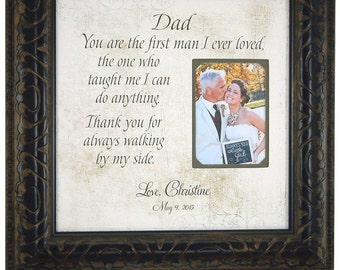 Father of the Bride Gift, Favorite Walk, Bridal Wedding Frame, Personalized Bridal Frame, Wedding Gift for Dad, Picture Frame Dad, 16x16