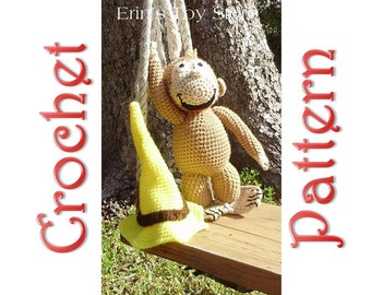 Curious George A Crochet Pattern by Erin Scull (hat included)