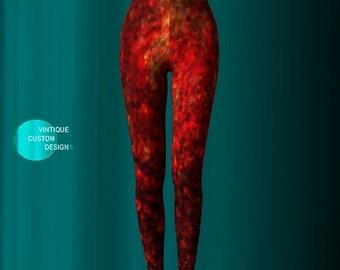 Gold FISH SCALE LEGGINGS for Women Festival Clothing Yoga Leggings Printed Leggings Mermaid Leggings Goldfish Leggings Gold Glitter Leggings