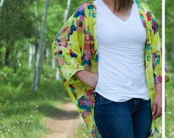Kimono Sewing Pattern-The Weekendje Kimono PDF Sewing Pattern Sized XS to 3X