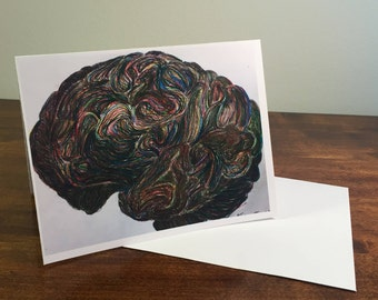 Rainbow Brain Greeting Card