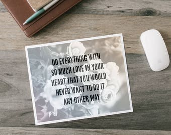 Do Everything With Love - Word Art Print