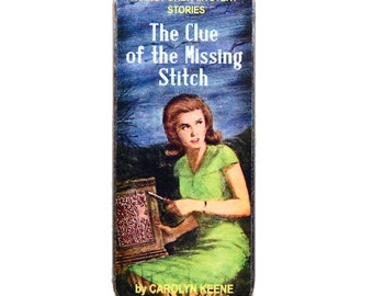Magnetic Sewing Needle Case Needle Slider Case Nancy Mystery Book Clue of the Missing Stitch