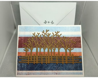 Trees and Fence Card