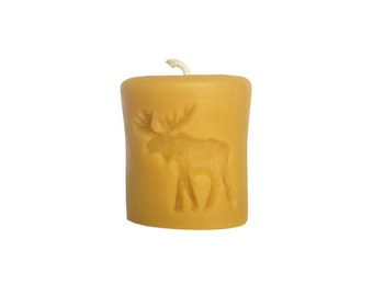 Beeswax Pillar Candle | 2x3 Rustic Moose