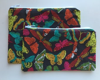Snack Bag,   Essential Oil Bag,  Make Up Bag, Butterflies