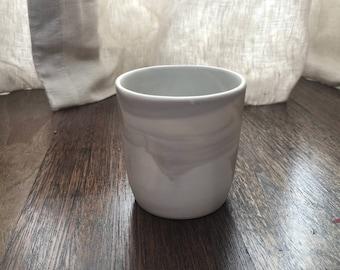 porcelain tumbler short. handmade. dishwasher safe.