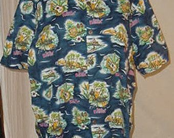 Vintage 90's Hawaiian Shirt Big Kahuna size L