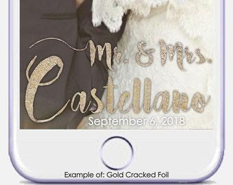 Wedding Snapchat Geofilter Wedding Snapchat Filter Personalized Wedding Snapchat Geofilter Custom Wedding Snapchat Filter