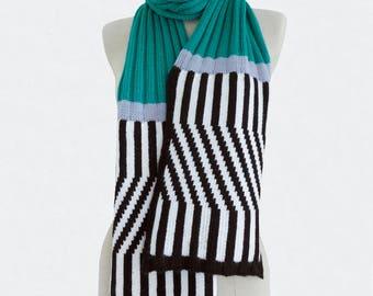 Green scarf, Tribute to italian Design