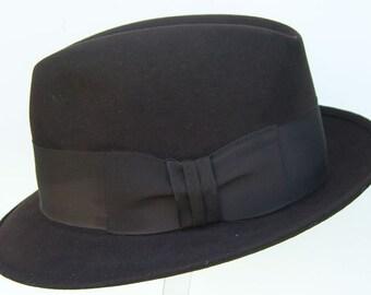 """22"""" - Vintage Chocolate Brown Stetson Men's Fedora Hat"""