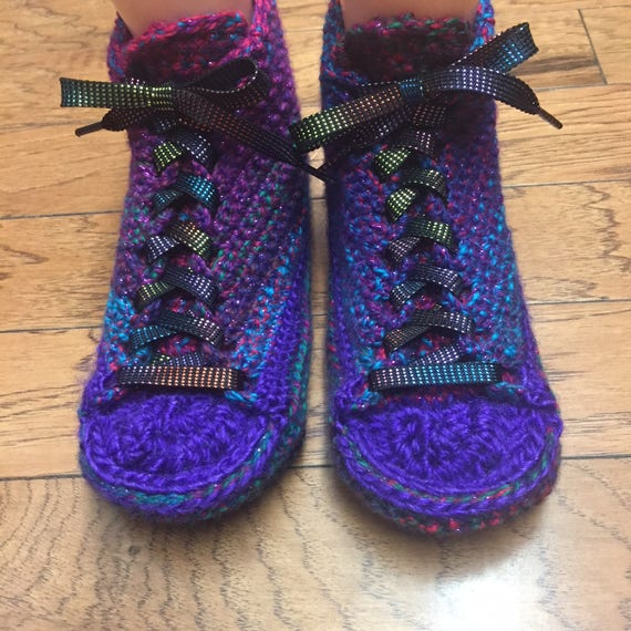 slippers shoe 214 Womens Listing purple house shoes Crocheted house sneakers 7 purple slippers 9 tennis sneaker slippers purple bling shoes HtxSqgx