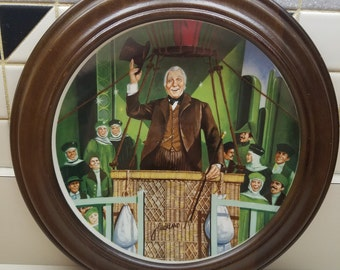 Vintage Wood Framed Knowles The Wonderful Wizard of Oz The Great and Powerful Wizard of Oz