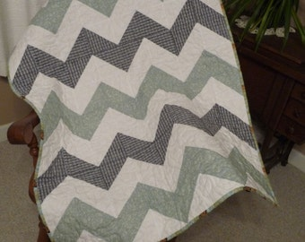 Chevron Baby Quilt, made to order