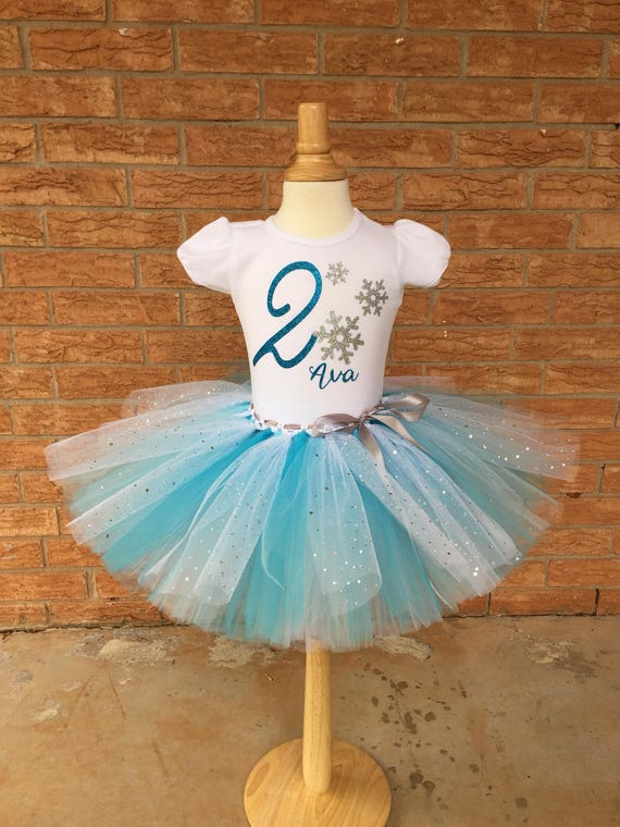 Girl's second birthday outfit 2nd Birthday shirt Frozen