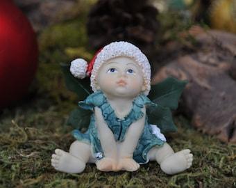 Holiday Fairy Baby Wishing Upon a Star+Fairy Garden Miniature+Fairy Garden Figurine+Faity Garden Supply