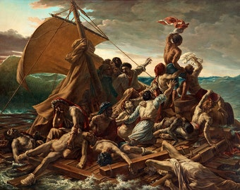 Theodore Gericault: The Raft of the Medusa. Fine Art Print/Poster. (001863)