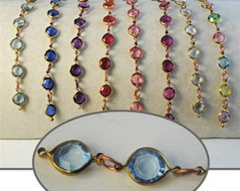 5ft Faceted Crystal Lucite Chain Crystal lucite stones in 10mm footage