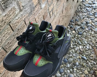 Black Customized Gucci Huaraches Customs