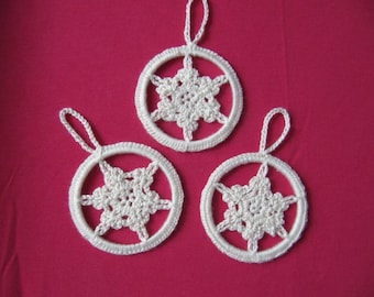 Snowflake hanging three
