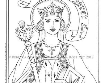 St Margaret Of Scotland Coloring Page