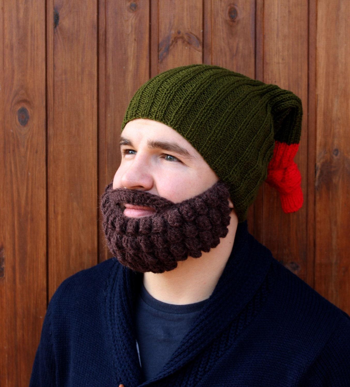 Crochet beard and hat Knitted face warmer Snowboard ski