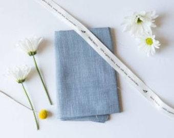 Slate Organic Yarn-Dyed Chambray, Birch Fabrics, Certified Organic Cotton