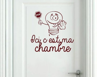 "Wall sticker ""Here is my room"""