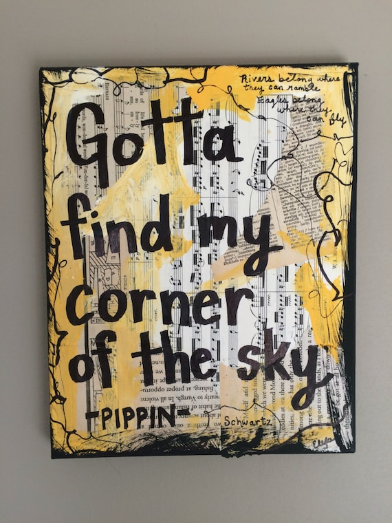 Pippin Music Art Book Painting Singer Fosse Gift Musical