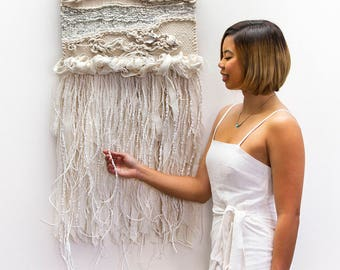 WHITE SAND, Woven Wall Hanging, Tapestry, Weaving