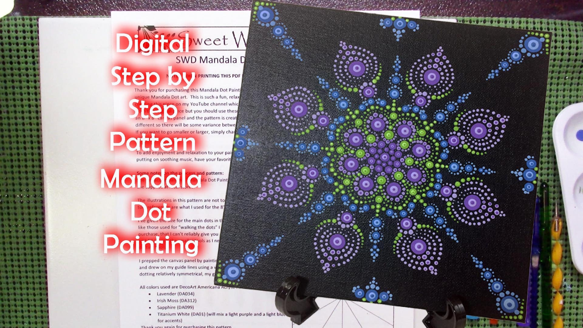 Mandala Dot Painting 003 Pattern 8 X 8 Canvas