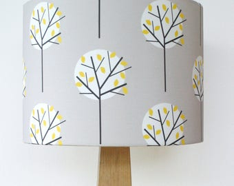 Moonlight Tree Grey Fabric Lampshade Lamp Shade Lightshade