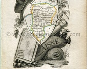 1823 Perrot Map of AISNE,...