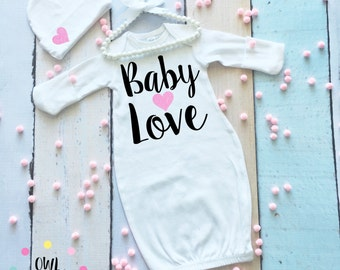Taking Home Baby Outfit. Newborn Clothing. Bringing Home Baby Outfit. Baby Gown. Baby Bodysuit. Baby Shower Outfit. Baby's First Outfit.