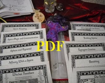 NEW Spirit Conjuration Set BOS Sheets PDF specialty pack -- 10 sheets -- Book of Shadows pages