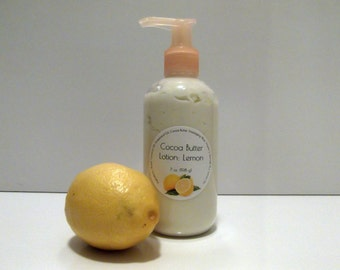 Lemon Scented Cocoa Butter Lotion