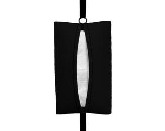 Auto Sneeze - Solid Black - Visor Tissue Case/Cozy - Car Accessory Automobile - Tissue Caddy