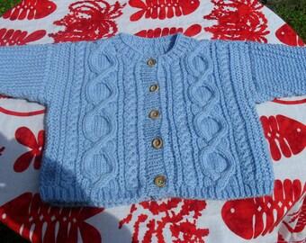 Irish 6 months jacket hand knitted