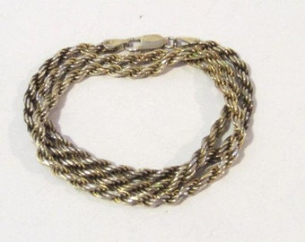 Vintage Sterling silver Itaian chain 20'' length