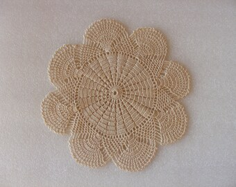 "Vintage Round Doily -  9.8""/ Crochet Doily/ Home Decor/ Table Decoration/ Handmade Doily Crochet Centerpiece / Table Decor Shabby Chic"