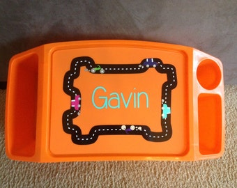 Boy's Lap Desk, Personalized Racing Activity Tray